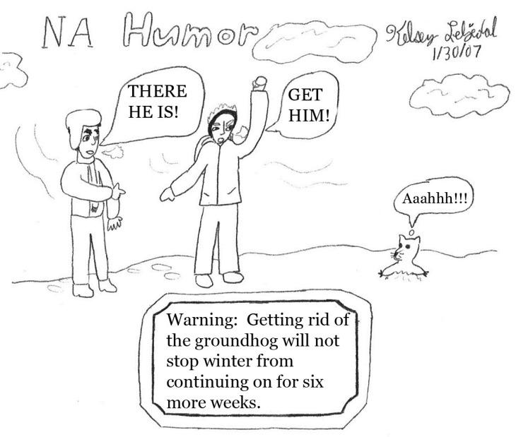 NA Humor comic: Groundhog's Day
